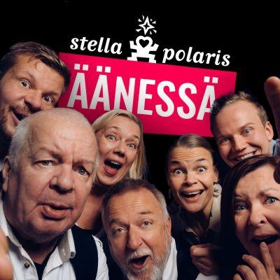 Stella Polariksen jäsenet katsovat kameraan ilmehtien.