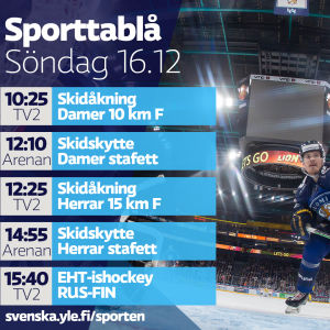Dagens sporttablå