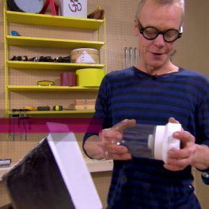 Jim använder sig av en färdig lamparmatur