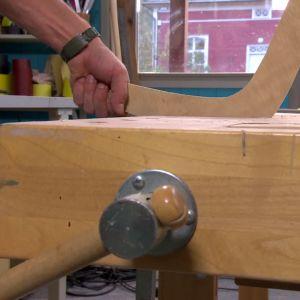 bumerangen ska avfalsas och slipas till rätt form