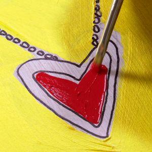 Hjärtat får färg.