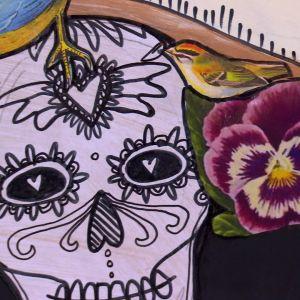 Camillas hommage till Frida Kahlo, detalj.