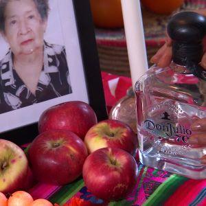 En flaska tequila till altaret.