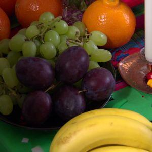 Frukter hör till firandet.