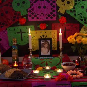 Altare för att fira de dödas dag.