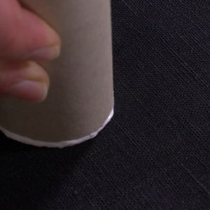 Tryck mönster med hushållspappersrulle