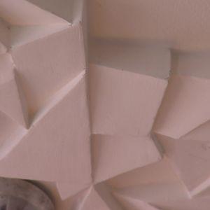 Jims stuckatur av polystyren, detalj.