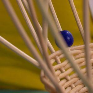 Trä pärlor på varje strå.