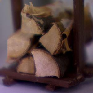 Staplad ved i miniatyr