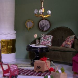 Vardagsrum i miniatyr