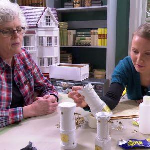 Lee lär sig göra en kakelugn i miniatyr