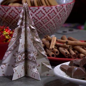 Pappersgranar ger julstämning