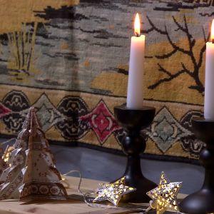 Granar och ljus i advent.