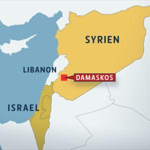 Israeliska flygräder mot Damaskus