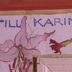Detalj från Karins sovrum.