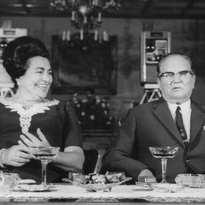 Presidentti Josip Broz Tito ja vaimo Jovanka Broz