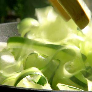 zucchini steks i panna