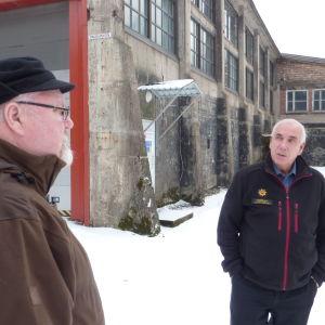 Kurt Hjort och Krister Lindström minns bruksorten Åminnefors.
