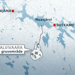 Så här planeras spillvattenröret till Nuasjärvi.