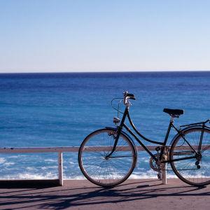 polkupyörä ja meri