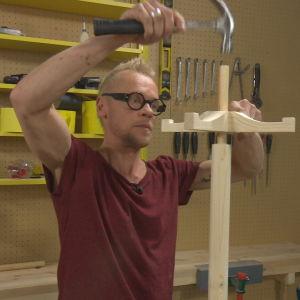 Rundstav, hängare och stång