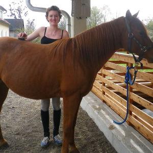 Alina Marx ja hevonen