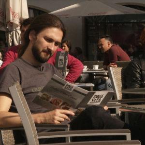 Max Braunschweigin kahvilassa.