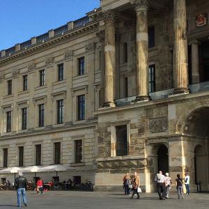 Braunschweigin yliopistorakennus.
