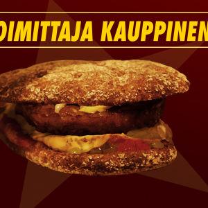 Toimittaja Kauppisen nimellä myytiin hampurilaista Jaskan grillissä 2002.