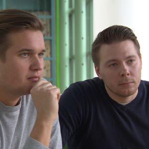 UP Suomen toimitusjohtaja Mikko Uutela ja kehitysjohtaja Iiro Haimi.