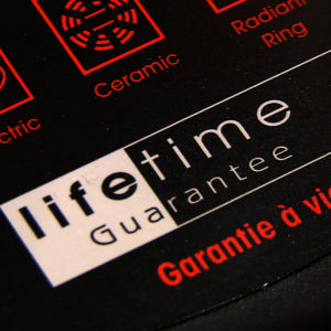 Takuumerkintä lifetime guarantee