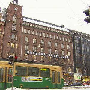 HBL:s fasad Mannerheimvägen 18
