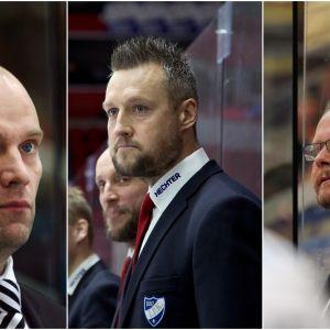 Fredrik Norrena, Jan Lundell och Kari Lehtonen.