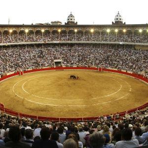 Barcelonan härkätaisteluareena La Monumental.