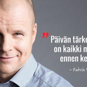 Patrik Borg, Vaakakapinan ravintoasiantuntija.