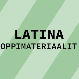 Navigaatiokuva aineen latina oppimateriaaleille.
