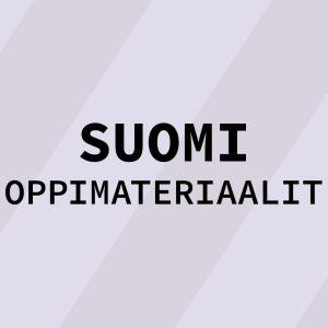 Navigaatiokuva aineen suomi oppimateriaaleille.