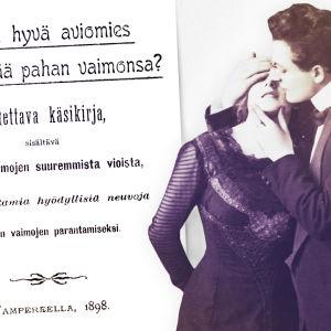 Kuinka hyvä aviomies voi kesyttää pahan vaimonsa -oppaan kansi ja pariskunta