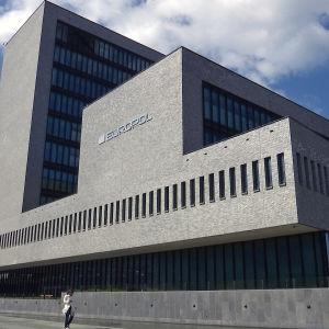 Europolin päärakennus Haagissa Hollannissa.