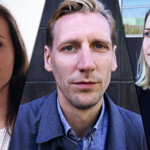 Henkilökuvassa Pekka Strang, Henna Antikainen ja Heidi Kähkönen