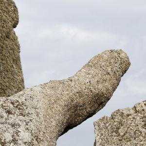 en del av ett berg som har format sig så att det ser ut som en penis när den har stånd