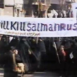 Mielenosoitus Salman Rushdieta vastaan Teheranissa.