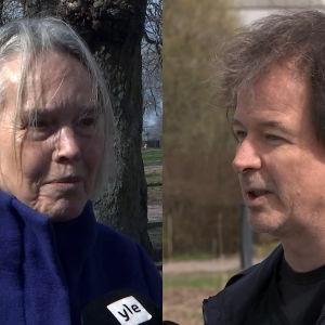 Merete Mazzarella och Kjell Westö