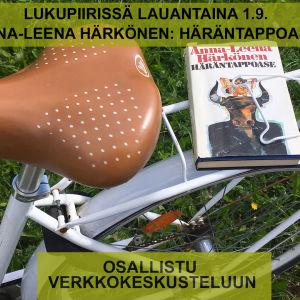 Pyörän tarakalla Anna-Leena Härkösen esikoisteos Häräntappoase