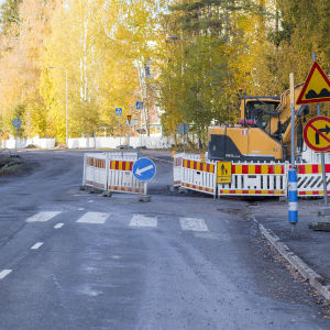 Platsen där en dödsolycka inträffade i Jyväskylä 9.10.2018