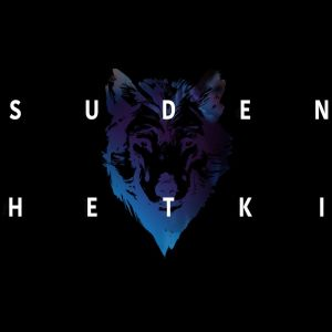 Suden hetki -sarjan logo, iso suden pää ja teksti Suden hetki.