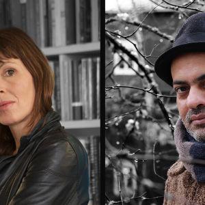 Kirjailijat Rachel Cusk ja Hassan Blasim