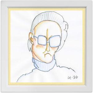 Lassi Rajamaan piirros kapellimestari Ulf Söderblomista.