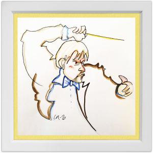 Lassi Rajamaan piirros kapellimestari John Storgårdsista.