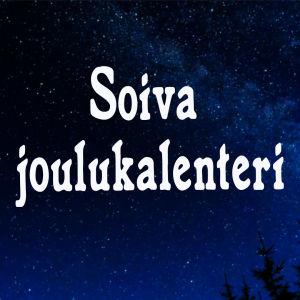 Kuvituskuva. Tähtitaivas ja teksti Soiva joulukalenteri.